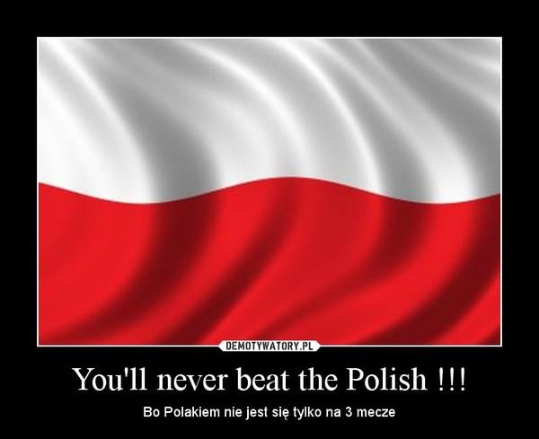 You'll never beat the Polish !!! – Bo Polakiem nie jest się tylko na 3 mecze
