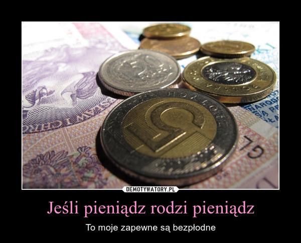 Jeśli pieniądz rodzi pieniądz – To moje zapewne są bezpłodne