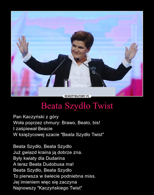 Beata Szydło Twist