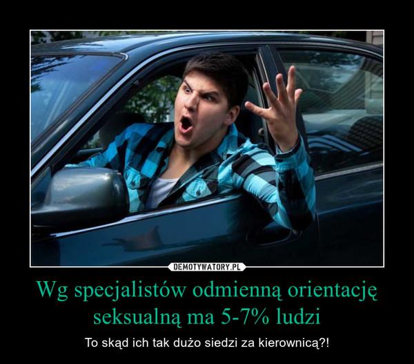 Wg specjalistów odmienną orientację seksualną ma 5-7% ludzi – To skąd ich tak dużo siedzi za kierownicą?!