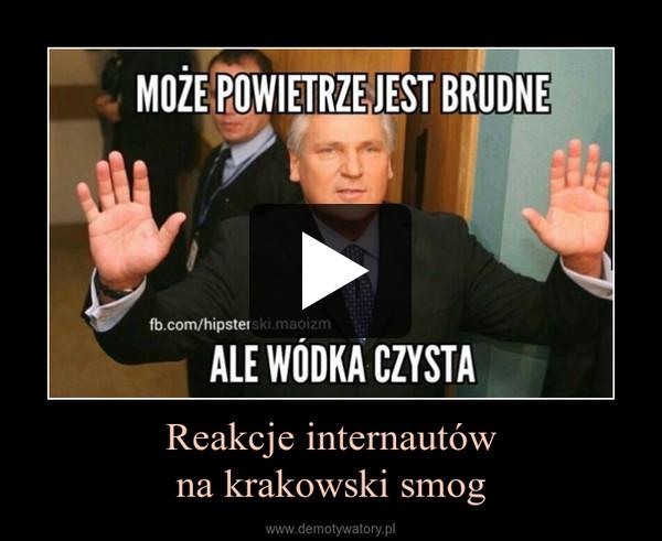 Reakcje internautówna krakowski smog –