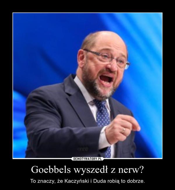 Goebbels wyszedł z nerw? – To znaczy, że Kaczyński i Duda robią to dobrze.