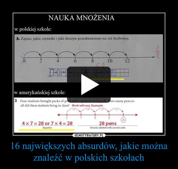 16 największych absurdów, jakie można znaleźć w polskich szkołach –