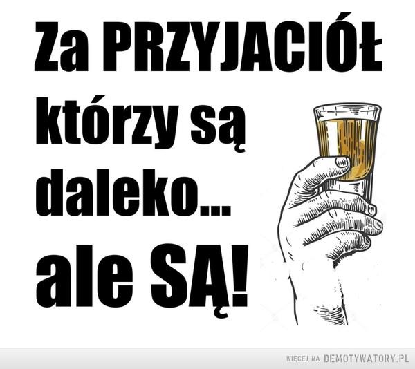 Wypijmy! –  Za przyjaciół, którzy są daleko, ale są