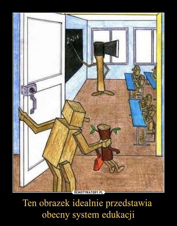 Ten obrazek idealnie przedstawia obecny system edukacji –