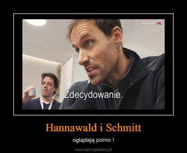 Hannawald i Schmitt – oglądają porno !
