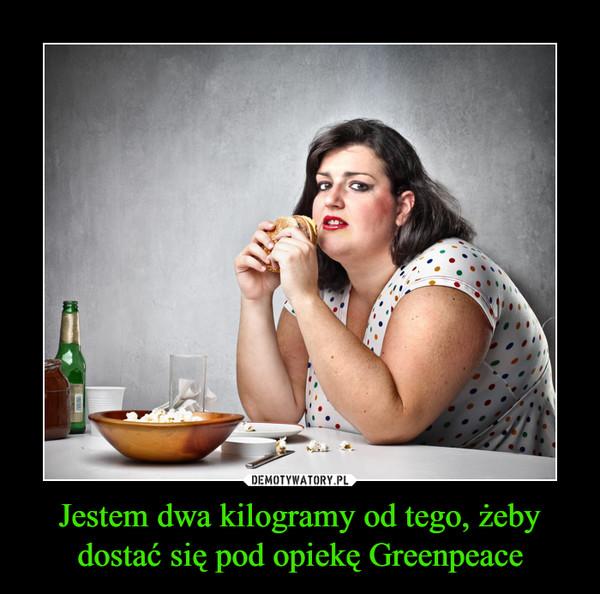 Jestem dwa kilogramy od tego, żeby dostać się pod opiekę Greenpeace –