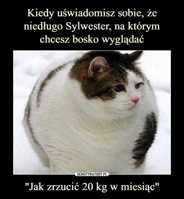 """""""Jak zrzucić 20 kg w miesiąc"""" –"""