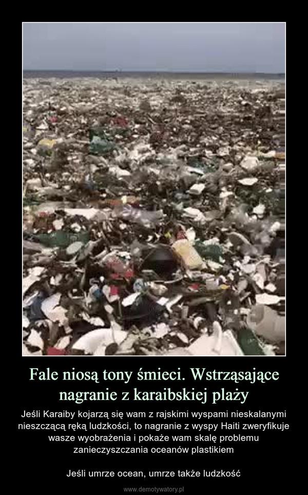 Fale niosą tony śmieci. Wstrząsające nagranie z karaibskiej plaży – Jeśli Karaiby kojarzą się wam z rajskimi wyspami nieskalanymi nieszczącą ręką ludzkości, to nagranie z wyspy Haiti zweryfikuje wasze wyobrażenia i pokaże wam skalę problemu zanieczyszczania oceanów plastikiemJeśli umrze ocean, umrze także ludzkość