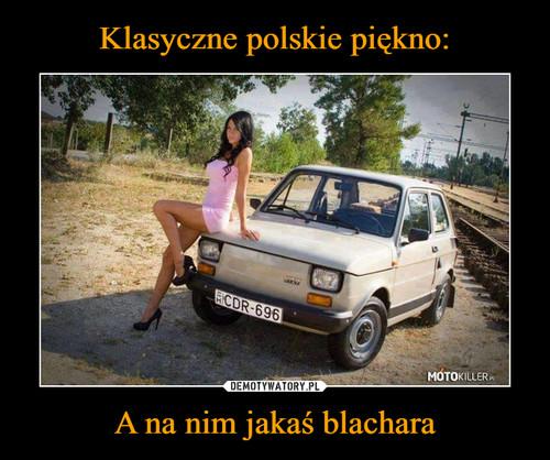 Klasyczne polskie piękno: A na nim jakaś blachara