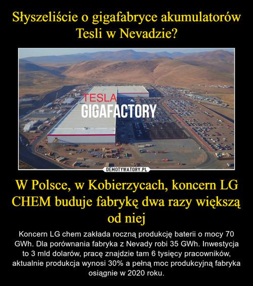 Słyszeliście o gigafabryce akumulatorów Tesli w Nevadzie? W Polsce, w Kobierzycach, koncern LG CHEM buduje fabrykę dwa razy większą od niej