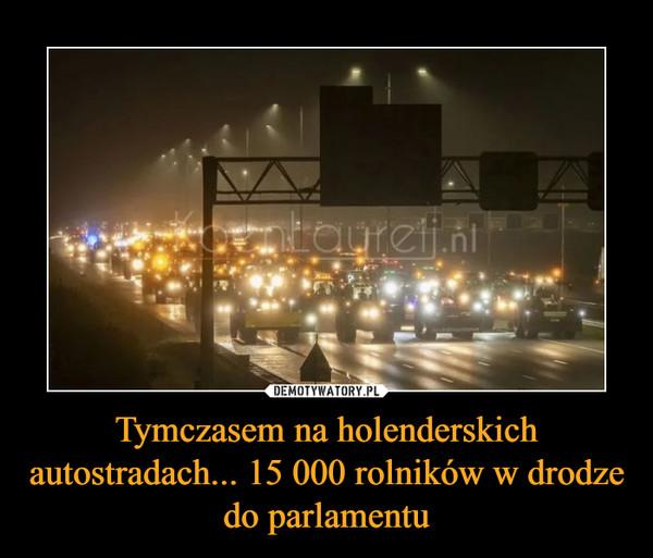Tymczasem na holenderskich autostradach... 15 000 rolników w drodze do parlamentu –