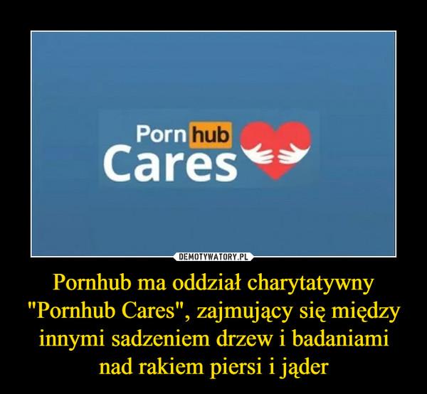 """Pornhub ma oddział charytatywny """"Pornhub Cares"""", zajmujący się między innymi sadzeniem drzew i badaniami nad rakiem piersi i jąder –"""