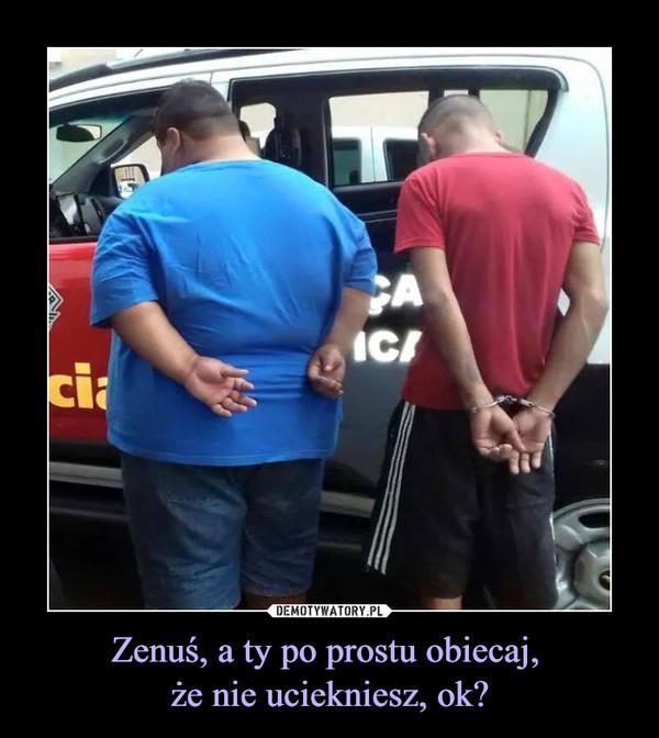Zenuś, a ty po prostu obiecaj, że nie uciekniesz, ok? –
