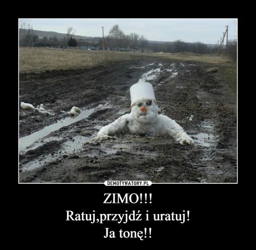 ZIMO!!! Ratuj,przyjdź i uratuj! Ja tonę!!