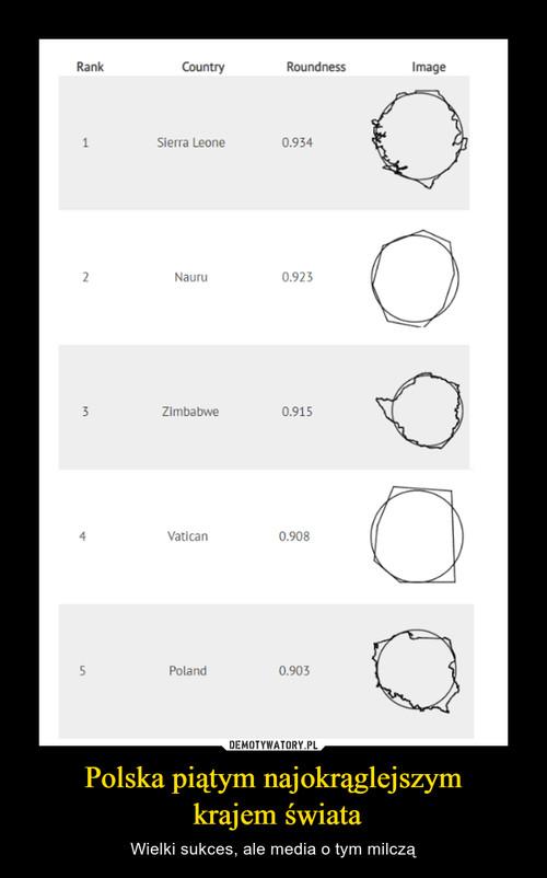 Polska piątym najokrąglejszym  krajem świata