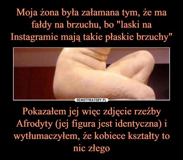 Pokazałem jej więc zdjęcie rzeźby Afrodyty (jej figura jest identyczna) i wytłumaczyłem, że kobiece kształty to nic złego –