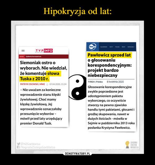 Hipokryzja od lat: