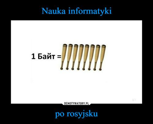 Nauka informatyki po rosyjsku