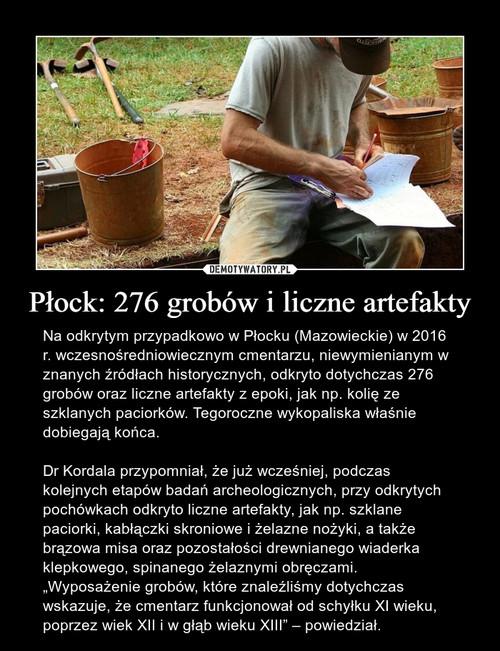 Płock: 276 grobów i liczne artefakty
