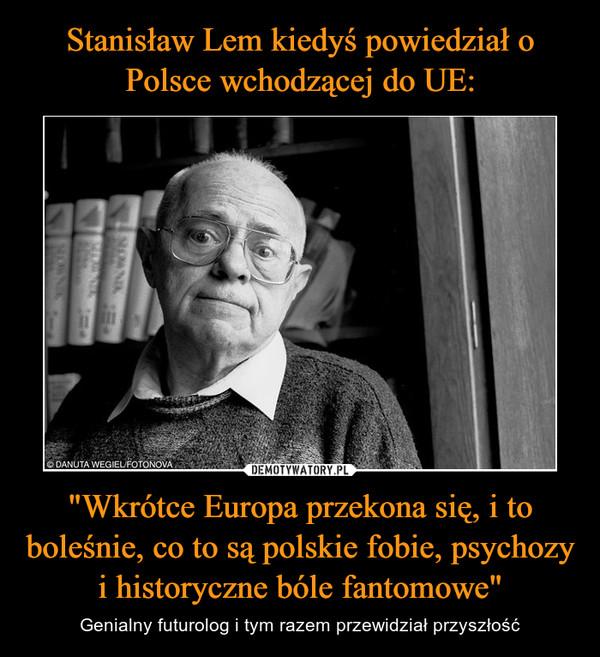 """""""Wkrótce Europa przekona się, i to boleśnie, co to są polskie fobie, psychozy i historyczne bóle fantomowe"""" – Genialny futurolog i tym razem przewidział przyszłość"""