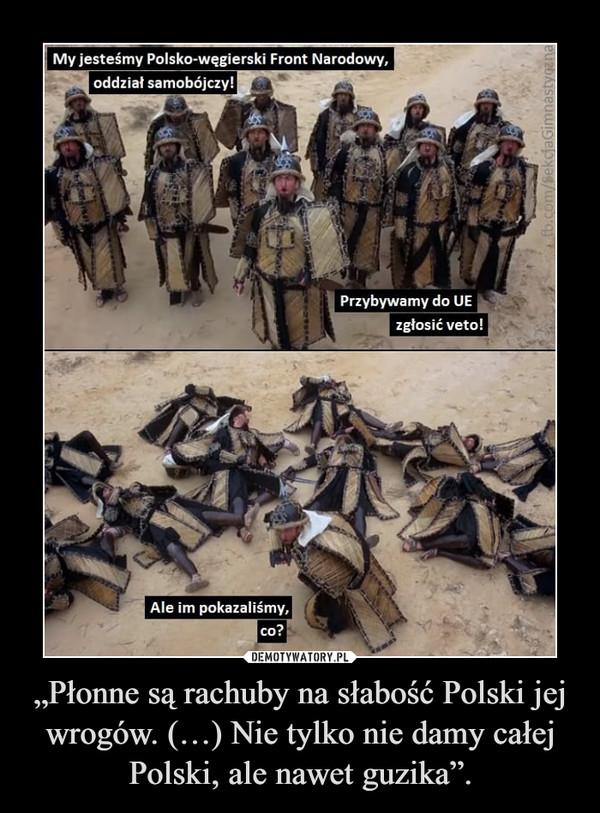 """""""Płonne są rachuby na słabość Polski jej wrogów. (…) Nie tylko nie damy całej Polski, ale nawet guzika"""". –"""