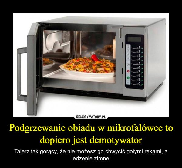 Podgrzewanie obiadu w mikrofalówce to dopiero jest demotywator – Talerz tak gorący, że nie możesz go chwycić gołymi rękami, a jedzenie zimne.