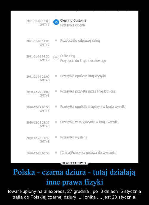 Polska - czarna dziura - tutaj działają inne prawa fizyki