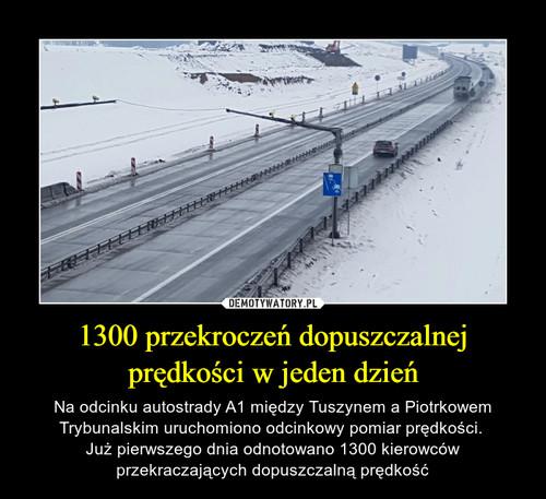 1300 przekroczeń dopuszczalnej prędkości w jeden dzień