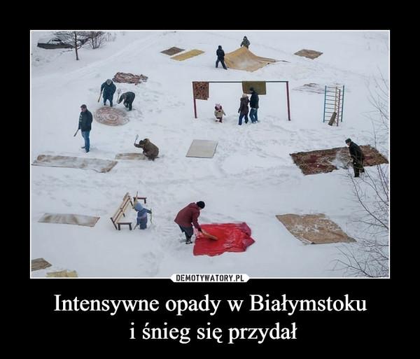 Intensywne opady w Białymstoku i śnieg się przydał –