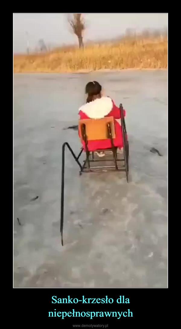 Sanko-krzesło dla niepełnosprawnych –