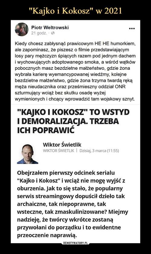 """""""Kajko i Kokosz"""" w 2021"""