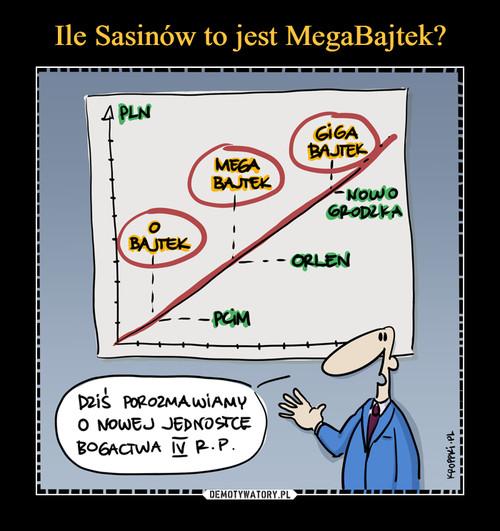 Ile Sasinów to jest MegaBajtek?