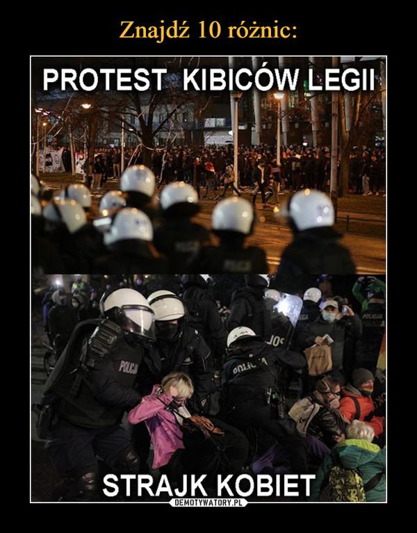 –  Protest kibiców Legii Strajk kobiet