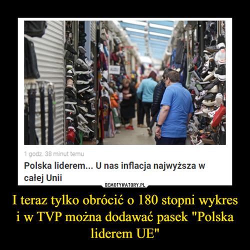 """I teraz tylko obrócić o 180 stopni wykres i w TVP można dodawać pasek """"Polska liderem UE"""""""
