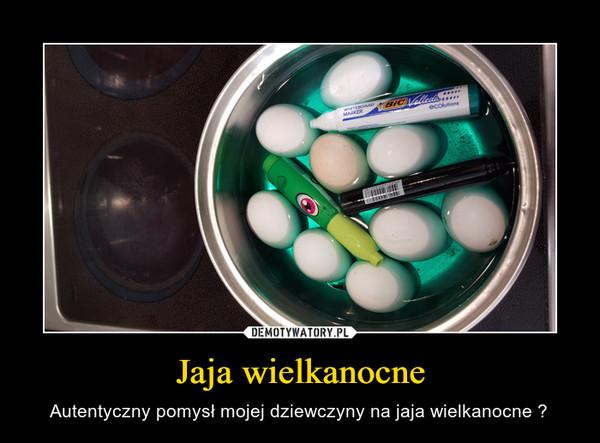 Jaja wielkanocne – Autentyczny pomysł mojej dziewczyny na jaja wielkanocne