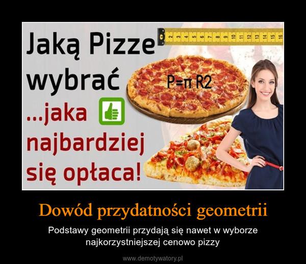 Dowód przydatności geometrii – Podstawy geometrii przydają się nawet w wyborze najkorzystniejszej cenowo pizzy