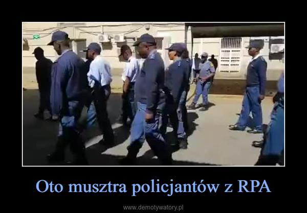 Oto musztra policjantów z RPA –