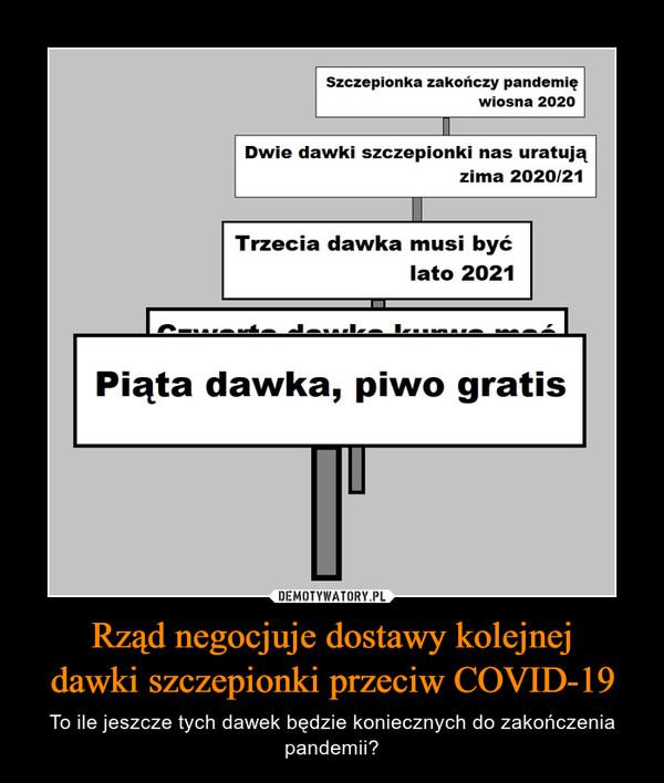 Rząd negocjuje dostawy kolejnejdawki szczepionki przeciw COVID-19 – To ile jeszcze tych dawek będzie koniecznych do zakończenia pandemii?
