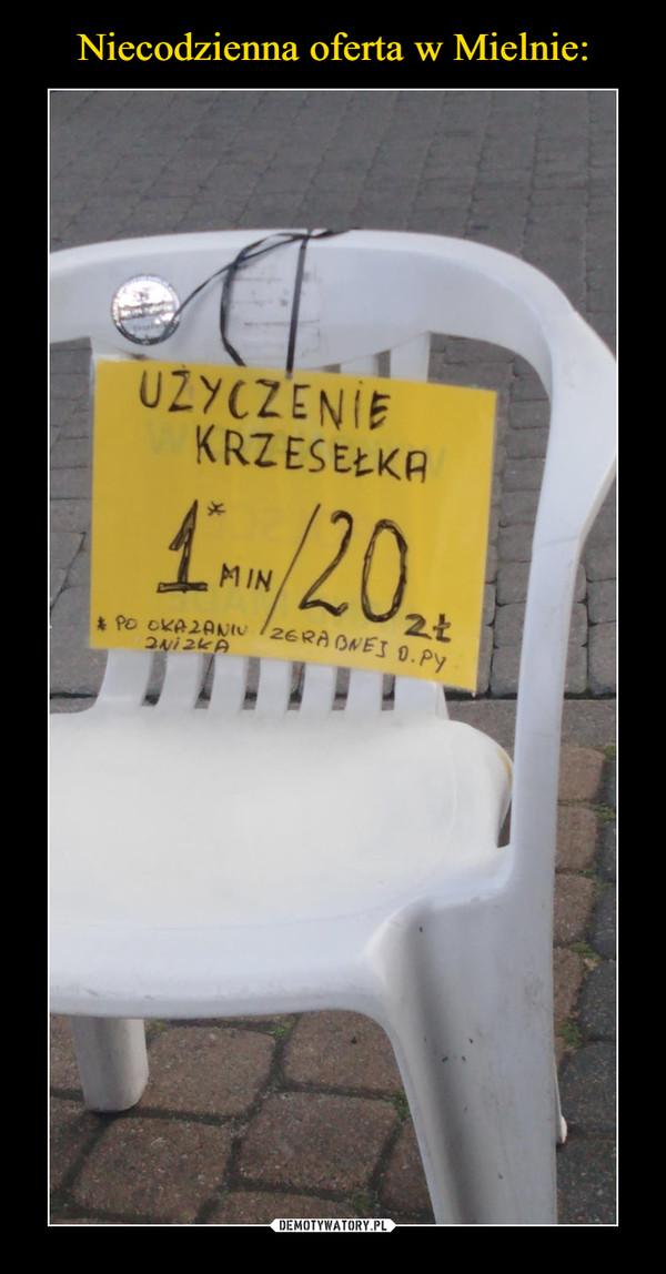 –  UŻYCZENIE KRZESEŁKA1 min / 20 zł