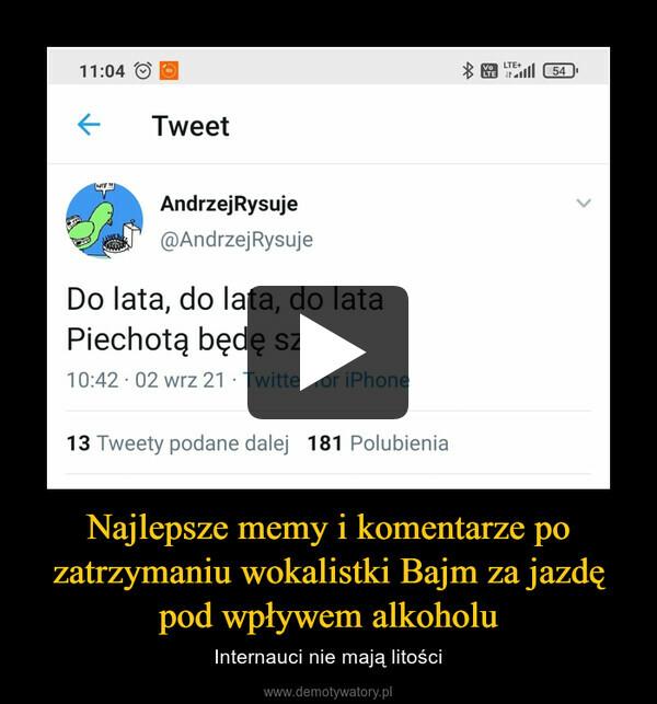 Najlepsze memy i komentarze po zatrzymaniu wokalistki Bajm za jazdę pod wpływem alkoholu – Internauci nie mają litości