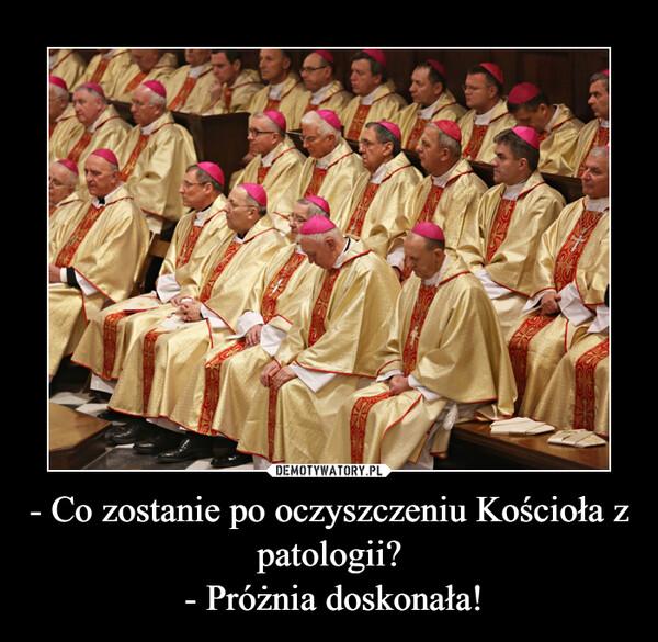 - Co zostanie po oczyszczeniu Kościoła z patologii? - Próżnia doskonała! –